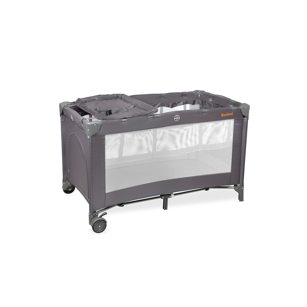 Travel cot Mina Luxe Gray