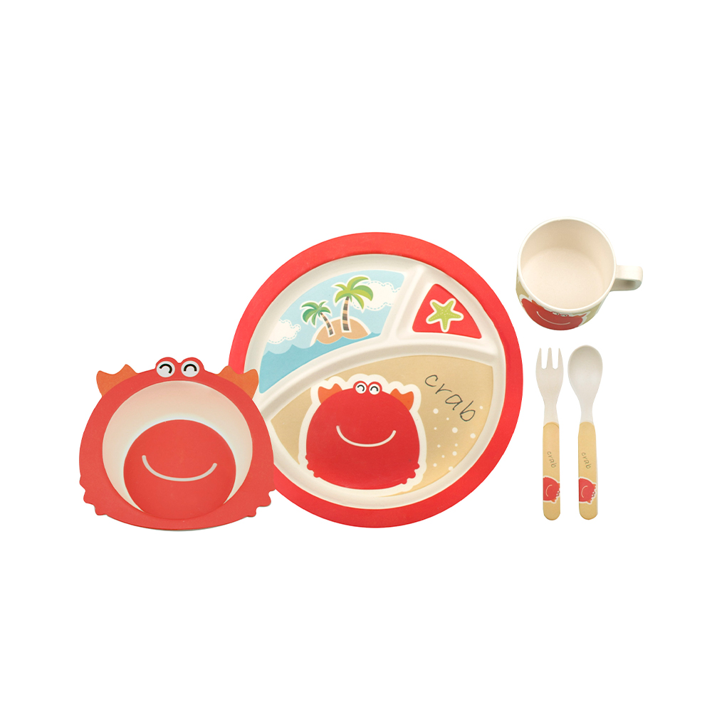just for kids bamboo dinner sets Crab