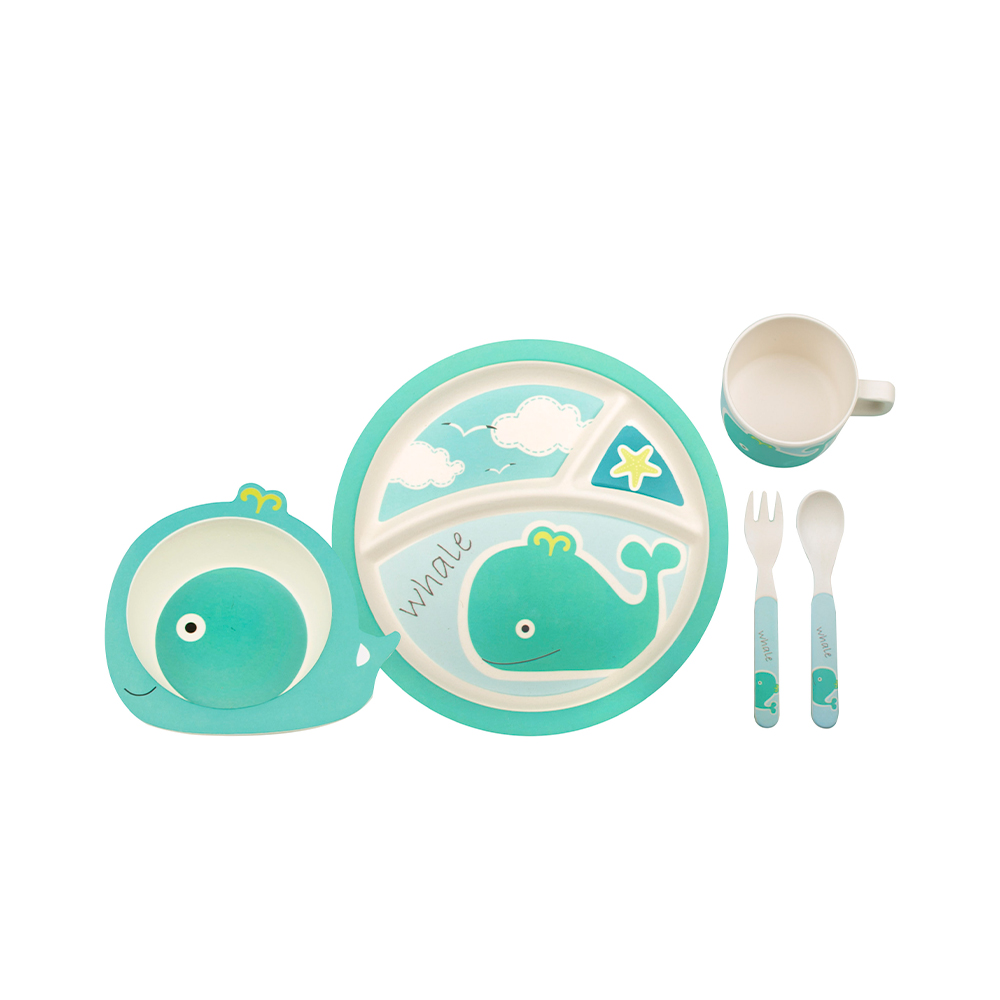 just for kids bamboo dinner sets Whale